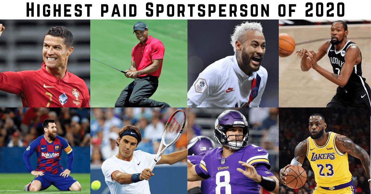 Highest paid Sportsperson of 2020